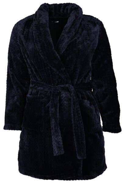 Zachte, flanellen kamerjas - Marineblauw