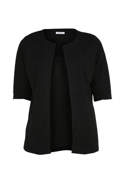 Veste tailleur longue manches 3/4 - Noir