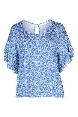 T-shirt imprimé gomme petites rosaces, Bleu Bic