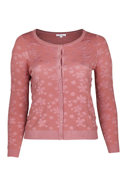 Cardigan reliefé - Rose