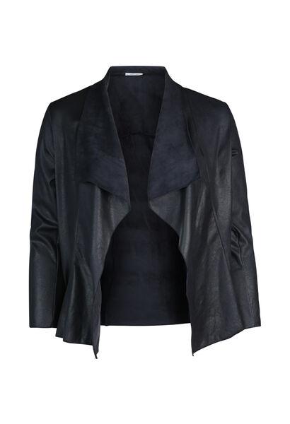 Kort jasje met slippen - Marineblauw