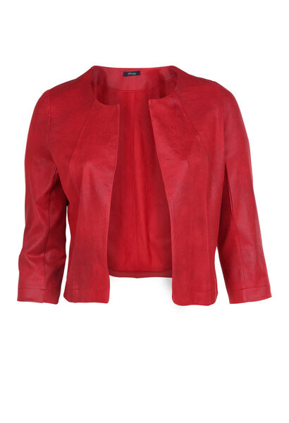 Veste en simili - Rouge