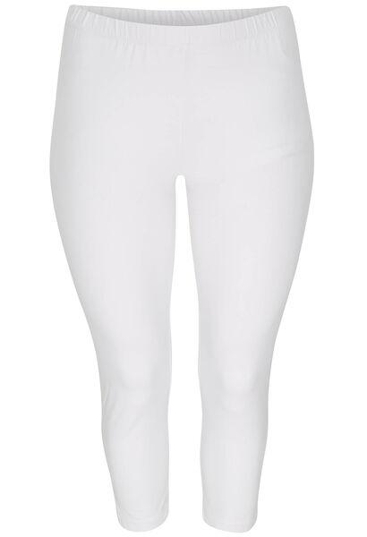 Legging 3 4 coton biologique - Blanc - Paprika f9eefac3f8be
