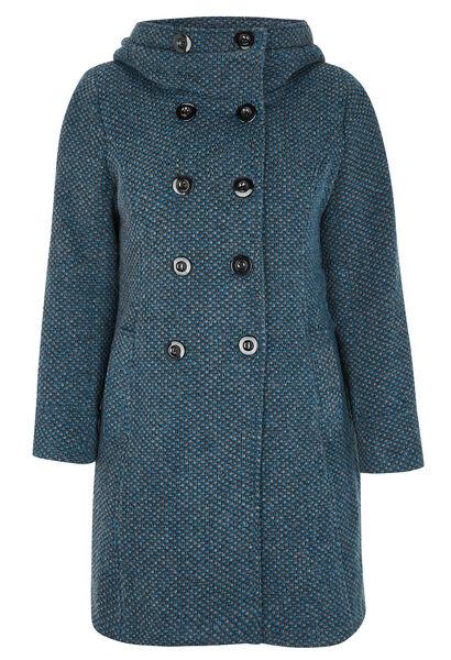 Long manteau lainage et grande capuche - Canard