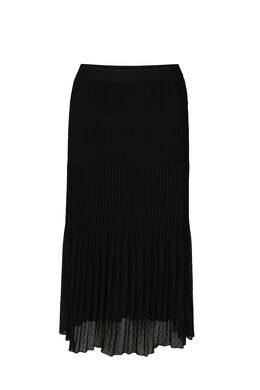 Lange rok met reliëfborduurwerk, Zwart
