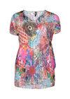 Blouse met psychedelische print, Multicolor
