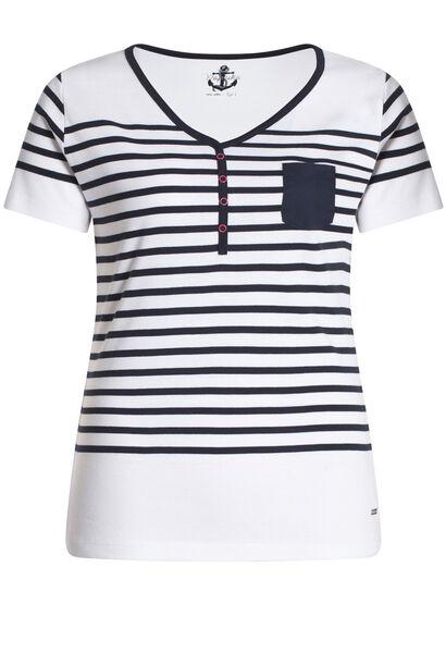 Gestreept T-shirt - Wit
