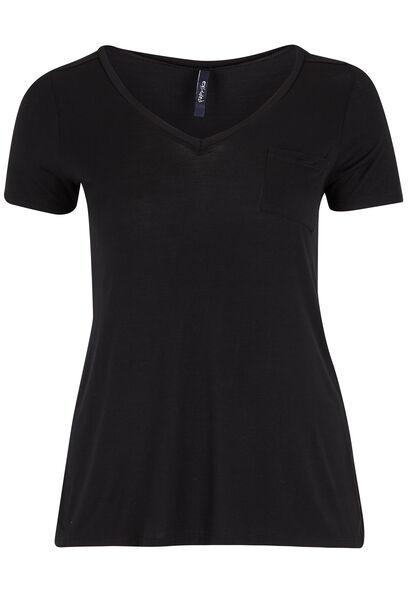 Tshirt V-hals - Zwart