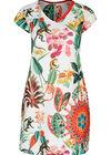 Robe imprimé tropical et singes, multicolor