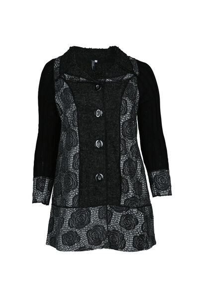 Cardigan manteau - Noir