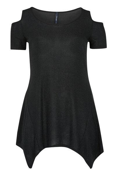 Tuniek van lurextricot - Zwart