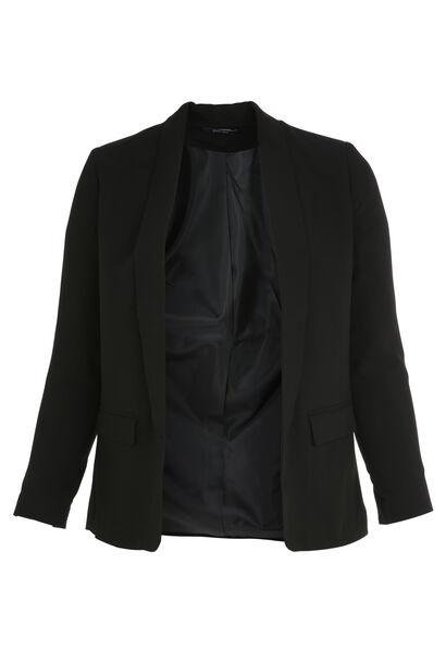Soepel vallende blazer - Zwart