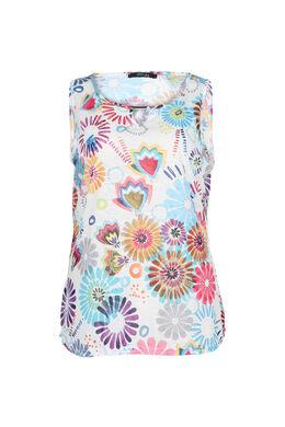 Top imprimé fleuri, multicolor
