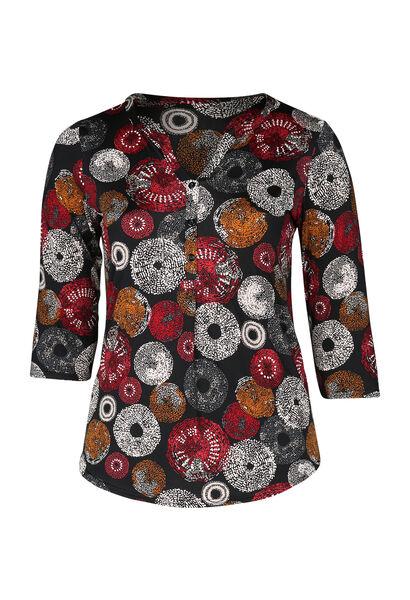 T-shirt met cirkels - Rood