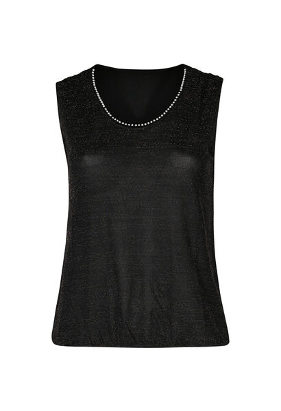 T-shirt maille lurex - Noir