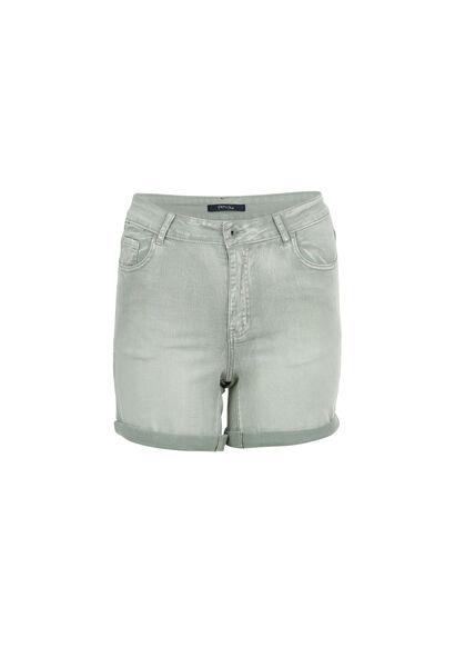 Short 5 poches en coton - Kaki-clair