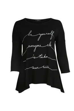 T-shirt print message, Noir