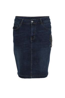 Kokerrok van jeans, Denim