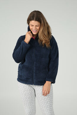 Zacht jasje met lurexgaren, Marineblauw