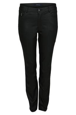 Gecoate broek met 5 zakken, Zwart