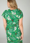 Tuniekjurk met bloemenprint, Groen