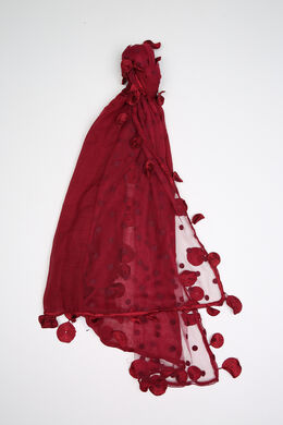 Effen sjaal van materiaalmix, Bordeaux