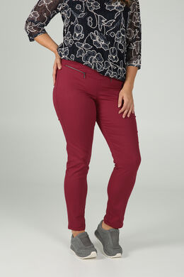 Pantalon bengaline zip, Bordeaux