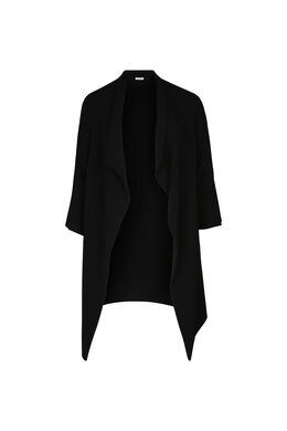 Lange jas met slippen, Zwart
