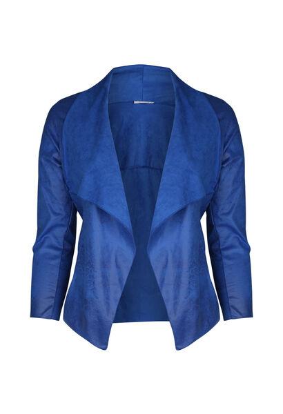 Veste courte à pans - Bleu Bic