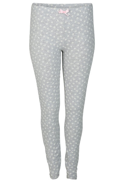 Legging imprimé patte de chat - Gris Chine