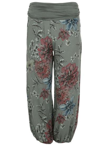 Pantalon en fibranne imprimé - Kaki