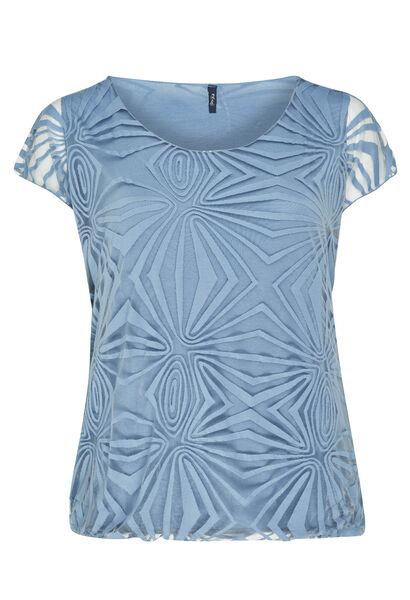 T-shirt en voile doublé - Lavande