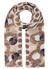 Foulard imprimé pois et fleurs, Beige