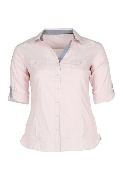 Klassieke blouse met knoopjes - Roze