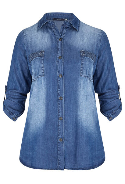 Shirt in tencel - Denim
