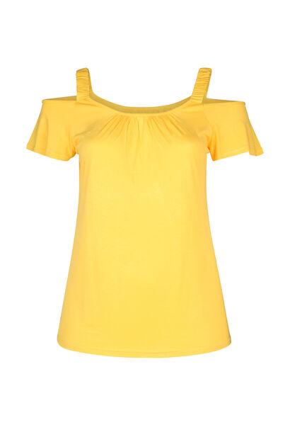 T-shirt bretelles élastiquées - Ocre