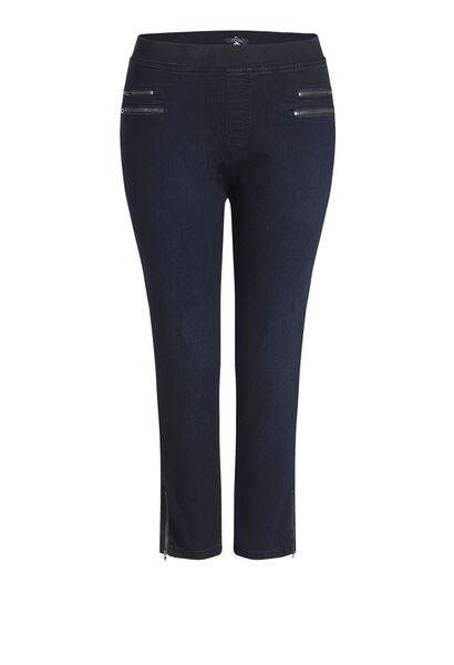 Korte jegging in jeans - Denim