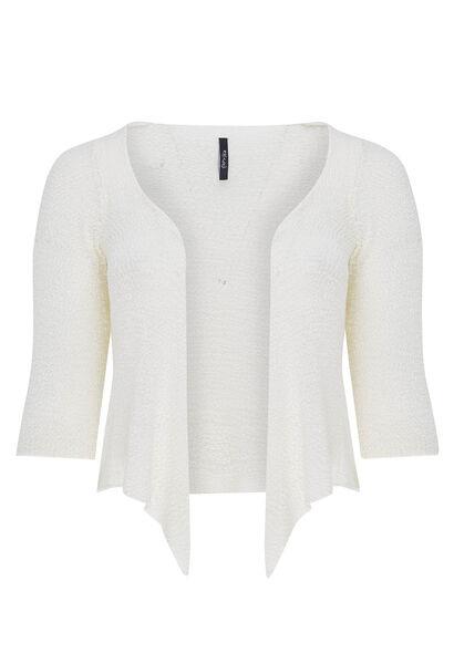 Vest van licht tricot - Wit