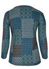 T-shirt in bedrukt, warm tricot., Emerald groen