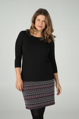 T-shirt en coton biologique, Noir