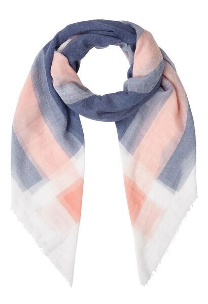 Vierkante sjaal met ruitjeseffect - Indigo