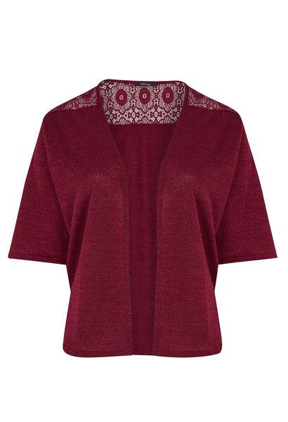 Vest van tricot en kant - Bordeaux
