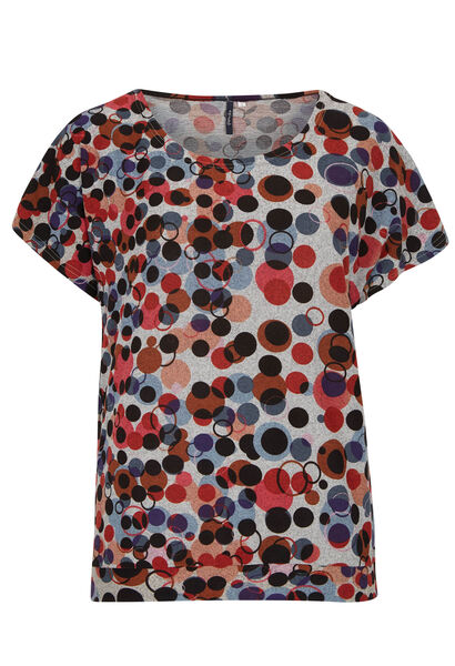 T-shirt in warm tricot - Multicolor