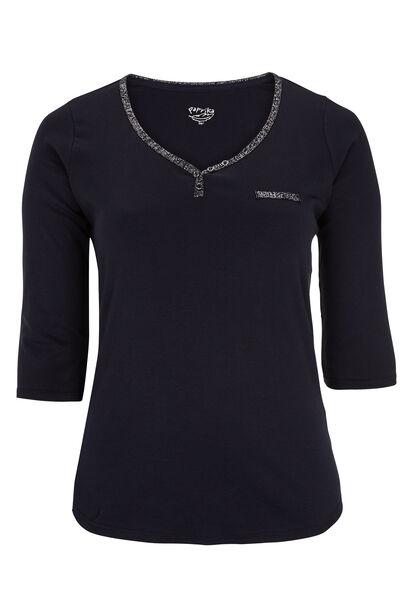 Katoenen T-shirt - Marineblauw