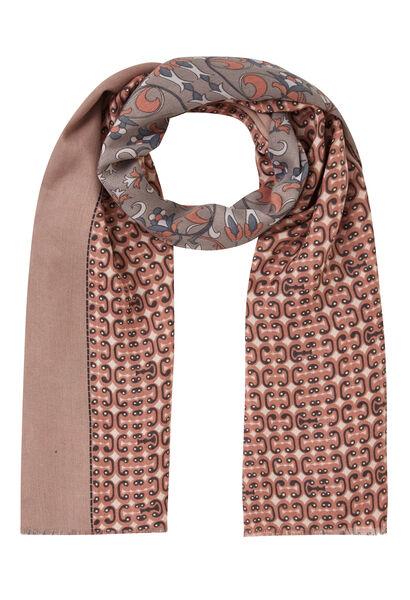 Sjaal met gemixte print - Roze
