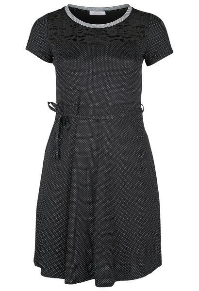 Robe imprimée de pois - Noir