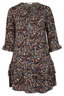 Robe tunique imprimé fleuri, multicolor