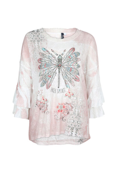 T-shirt imprimé fantaisie - Blush