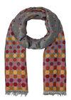 Echarpe jacquard imprimé pois, multicolor