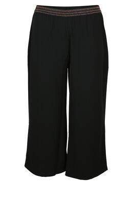 Kuitbroek met elastische taille, Zwart